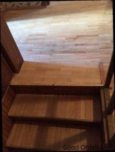 фото циклевки лестницы